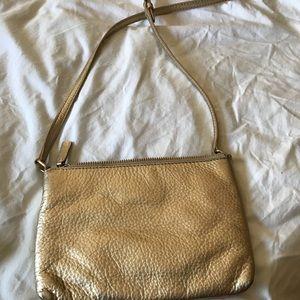 Cole Hann Small Gold Crossbody Bag